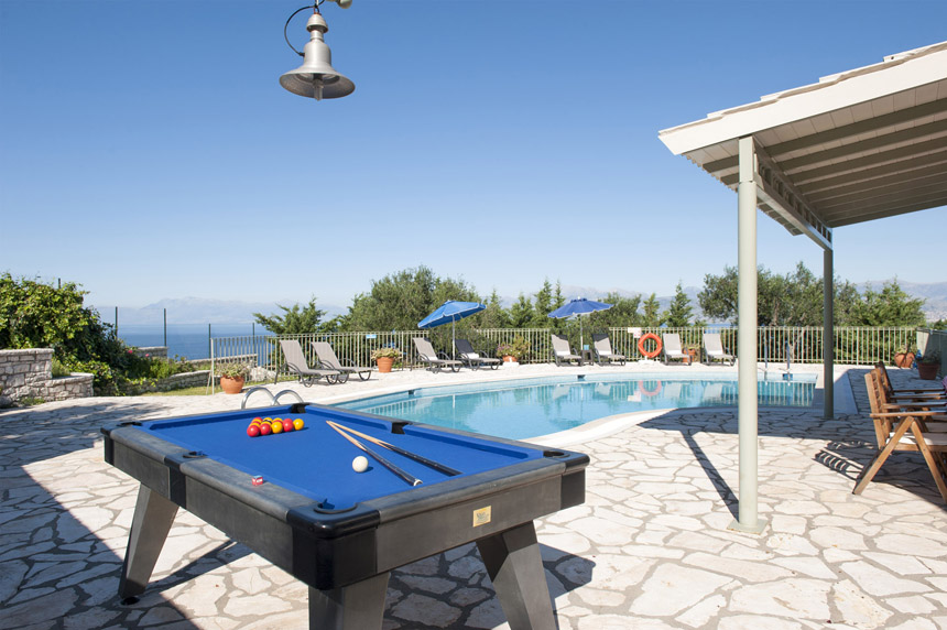 Villa Mylos Pool Table