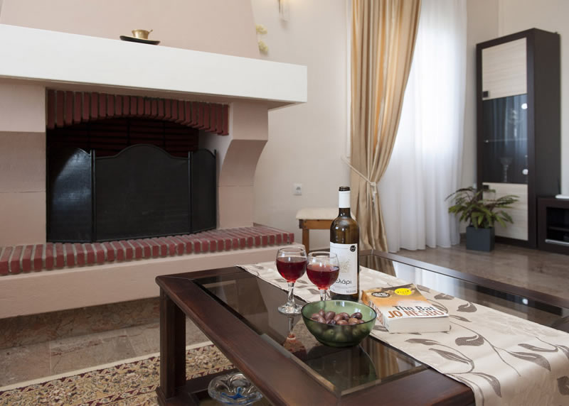 Villa Panagiota Fire Place & Coffee Table