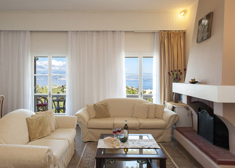Villa Panagiota Living Room with View